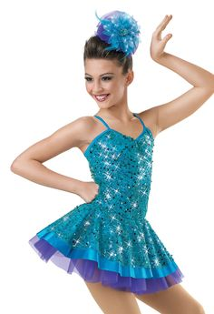 Love the hairpiece. Emerald Sequin Camisole Dress; Weissman Costumes