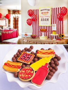 Retro Hot Dog Birthday Party {Red & Yellow}