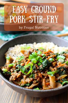 You Have Meals Poisoning More Normally Than You're Thinking That Easy Ground Pork Or Beef, Turkey, Chicken Stir Fry Frugal Nutrition Asian Recipes, Beef Recipes, Cooking Recipes, Healthy Recipes, Sausage Recipes, Recipies, Hamburger Recipes, Asian Foods, Chinese Recipes