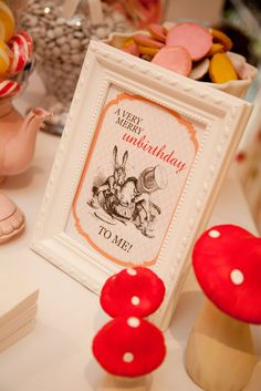 "Cute ideas: Alice in Wonderland - Mad Hatters Tea Party / Birthday ""Eva's 7th Birthday"" 