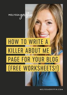 If you want to start a blog and make money, you need a killer about me page. Here is exactly how to do it with more blog growth tips. Learn the best about me page design ideas by clicking the pin! #melyssagriffin, #onlinebusinessideas, #bloggingideas, #howtostartablog, #blogging101, #bloggingforbeginners