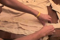 Attaching the Strips to the Shirt