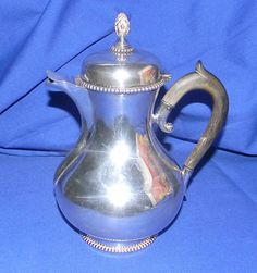 RARE Antique 1887 Amsterdam Dutch Sterling Silver 934 Hinged Beaded Tea Pot | eBay