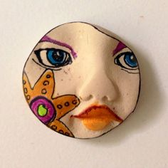 clay face   jewelry craft supplies round handmade cabochon mosaic doll  fairy goddess spirit polymer clay  findings  zentangle