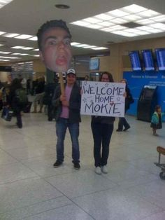 What a welcome home!