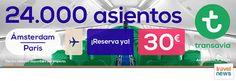 Ofertas de viajes en www.viajesviaverde.es: Ámsterdam, París y mucho más desde 30€ con Transav...
