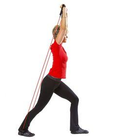 Träna med gummiband – 7 enkla övningar   Allas.se Yoga Fitness, Health Fitness, Fitness Motivation, Massage Tips, Biceps, Pregnancy, Sporty, Exercise, Workout