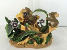 RARE CHARMING TAILS 2003 FITZ AND FLOYD FERNTICKLE FERN TICKLE FIGURINE