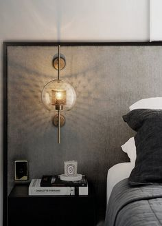 Modern Bedroom Wall Lights Beautiful Chiswick Glass Wall Light – Tudo and Co In 2020 Bedside Wall Lights, Glass Wall Lights, Bedside Lighting, Bedroom Lighting, Bedroom Decor, Bedroom Wall Lights, Wall Lamps, Overhead Lighting, Accent Lighting
