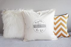 Items similar to Quote pillow, handprinted. Unique gift for housewarming, love declaration, birthday, home decoration . on Etsy Love Declaration, Wedding Theme Inspiration, Wedding Themes, Wedding Decor, Pillow Quotes, Present Day, Personalized Wedding Gifts, Fabric Art, Decoration