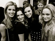 Emily Bett Rickards, Katie Cassidy, Danielle Panabaker and Caity Lotz ♥♥♥