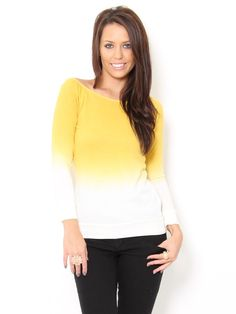 #stylesforless  #Ombre Long Sleeve Top