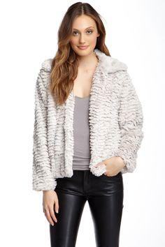 Fever Plush Faux Fur Jacket by Fever on @nordstrom_rack