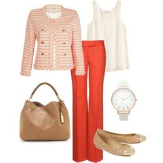 summer work outfit by lmspowellhr on Polyvore featuring H&M, River Island, STELLA McCARTNEY, Tory Burch, Michael Kors and Olivia Burton