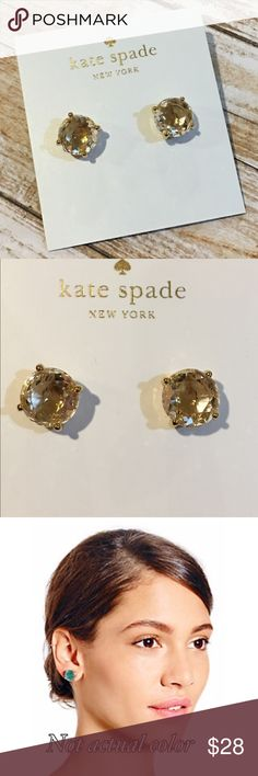 NWT Kate Spade Crystal Earrings NWT Kate Spade Crystal Stud Earrings. Comes with jewelry box. Refer to pic 3 for sizing. NO TRADES NO LOWBALLING kate spade Jewelry Earrings