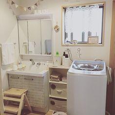 ダイソー/洗濯機/AQUA/TWIN WASH/新しい洗濯機/サニタリールーム…などのインテリア実例 - 2016-08-22 22:57:03   RoomClip(ルームクリップ)