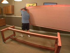 How to Build a Dinner Table : How-To : DIY Network This is the kind of base I need to transform my long arm HQ Sixteen table into a sturdier version.