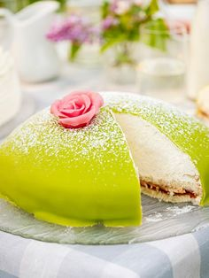 Not sure I'd eat it, but it's very pretty.  :)  Prinsesstårta (Swedish Princess Cake)