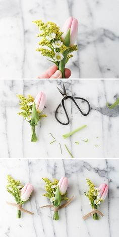 DIY // Tiny Spring Bouquet for Mother's Day or Easter
