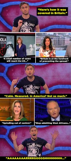 When he highlighted the difference between news coverage of the ebola outbreak in the UK and the US. | 14 Times Russell Howard Nailed It