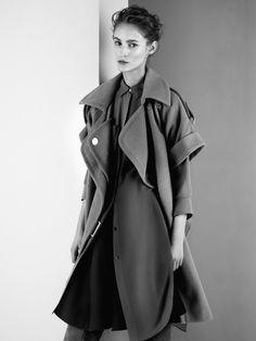 Oversized jacket and dress vintage style