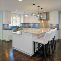 bar height kitchen island | Kitchen | Pinterest | Kitchens, Long ...