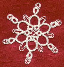Double/Triple Picot Snowflake with pattern & simple  instructions for how to make double & triple picots. Ring of Tatters - Sally Magill's pattern . *p*