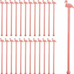Pink Flamingo Cocktail Stirrers-Set of 24: Kitchen & Dining: Amazon.com for a queen of hearts party alice in wonderland
