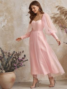 To find out about the Zip Back Button Flocked Mesh Dress at SHEIN, part of our latest Dresses ready to shop online today! Mesh Dress, Dress P, Bridesmaid Dresses, Prom Dresses, Wedding Dresses, Style Pastel, Bandeau Bikini Set, Pastel Fashion, High Cut Bikini