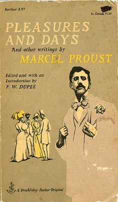 Marcel Proust writings and an Edward Gorey book cover design
