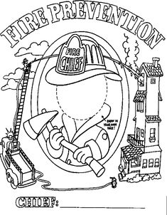 House of Hugs Fire Safety Coloring Page | Fire Safety Theme ...