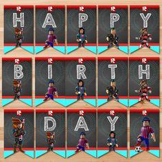 Roblox  Happy Birthday Banner  Chalkboard  by HydrangeaEtchings