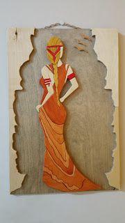 woodarsia: Gazing . W26cm H40cm