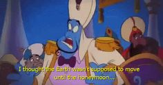 And chances are you didn't fully understand this joke from the Aladdin sequel, either. | 14 Smart Disney Movie Jokes That Are Still Funny For Adults
