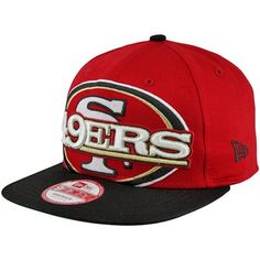New Era San Francisco 49ers Squared Up 9FIFTY Snapback Hat - Scarlet/Black#fanatics