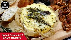 How To make Roasted Camembert Recipe — HOT Baked Camembert with Cheese B... Dinner Party Menu, Dinner Party Recipes, Appetizers For Party, Cocktail Recipes, Holiday Recipes, Camembert Recipes, Baked Camembert, Camembert Cheese, Fruit Recipes