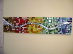 Painel elaborado com diversos materiais. 0,25m x 1,20m