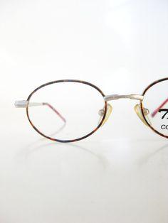 45b7dab09e Vintage Oval Glasses - Oval Eyeglasses - Vintage Kids Glasses - Retro  Children s Optical Frames - Red Tortoiseshell Glasses