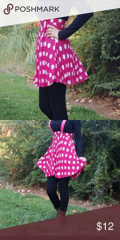 High Waist Polka Dot Mini Pleated Skirt Super cute girly pink polka dot skirt Skirts Mini