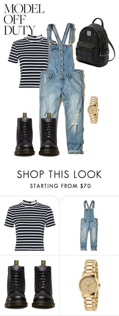 """""""Untitled #128"""" by purple4048 on Polyvore featuring T By Alexander Wang, Hollister Co., Dr. Martens, Gucci and MCM"""