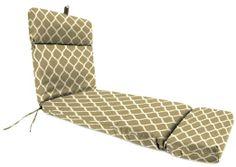 Jordan Manufacturing Outdoor Reversible Chaise Cushion, Cascade Bone