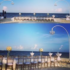 Chandeliers add some flare to your wedding decor at Now Sapphire Riviera Cancun!