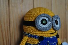Soon you will see him all. Bob is spook cute. Hope you like it. #amigurumi #handmade #weamiguru #munions #minion #crochet #toy #cartoons #dispicableme #minionbob by yevl_crochet