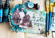 Vintage canvas with Lindys Stamp Gang products.