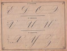"""Principes d'écriture 12   Édité vers 1880, """" Recueil méthodique de principes…"""