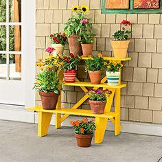Make A Stair Riser Plant Stand