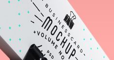 Mock-up для визиток  (Белая визитка шаблон) #Визитка #mock-up #шаблон
