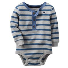 Baby Boy Thermal Henley Bodysuit | Carters.com