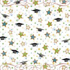 Graduation Fanfare Scrapbook Paper