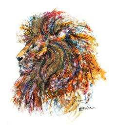 See my wild mane, feel my wild nature. My courage will never be tamed and my spirit will echo, my spirit will roar. Signed Giclee A2 print 4Portrait